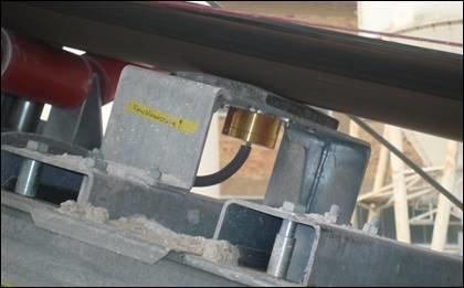 ACO měření vlhkosti ČOV kalů, pásová sušička, umístění pod pásem