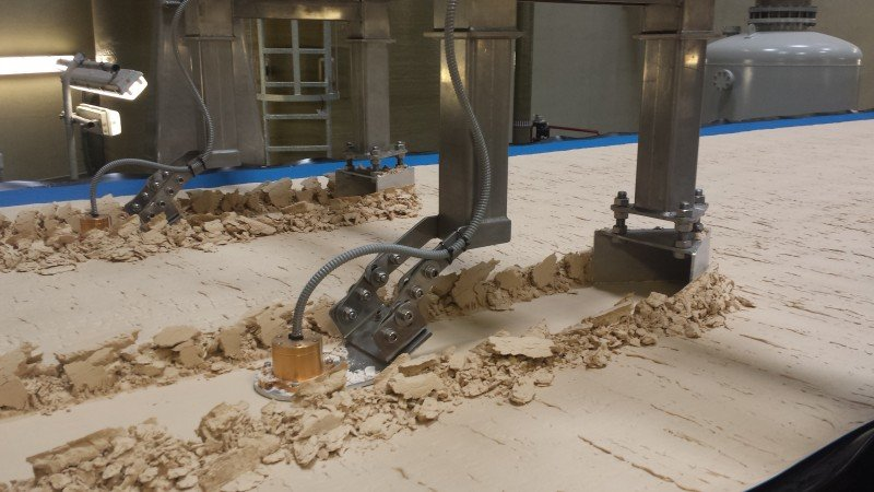 Aplikace měření vlhkosti sádry, sádry REA a sádrokartonu.